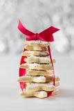 Árvore de Natal cozida caseiro das cookies da estrela do açúcar Fotografia de Stock Royalty Free
