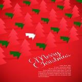 Árvore de Natal criativa formada do papel cortado. Foto de Stock