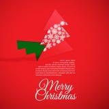 Árvore de Natal criativa formada do papel cortado. ilustração stock