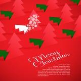 Árvore de Natal criativa formada do papel cortado. Imagem de Stock