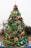 Árvore de Natal da arte Fotografia de Stock Royalty Free