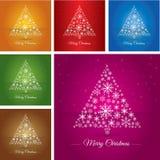 Árvore de Natal da coleção feita ilustração stock