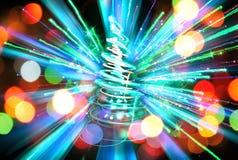 árvore de Natal da cor Fotos de Stock