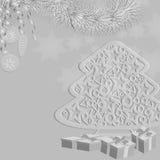 Árvore de Natal da decoração Foto de Stock