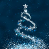 Árvore de Natal da estrela Fotografia de Stock Royalty Free