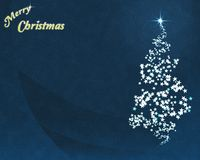 Árvore de Natal da estrela azul Fotos de Stock Royalty Free