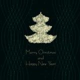 Árvore de Natal da ilustração do vetor Imagem de Stock
