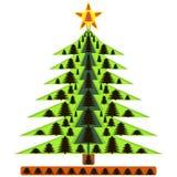 Árvore de Natal da imagem no ano novo ilustração royalty free