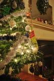 Árvore de Natal da lareira Fotos de Stock