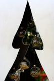 Árvore de Natal da silhueta com bolas de vidro Imagem de Stock