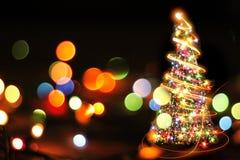 Árvore de Natal das luzes da cor Imagem de Stock