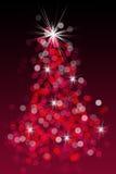 Árvore de Natal de Bokeh Fotos de Stock