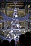 Árvore de Natal de cristal branca Foto de Stock Royalty Free
