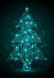Árvore de Natal de Digitas Fotografia de Stock