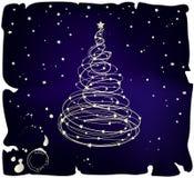 Árvore de Natal de Grunge Fotos de Stock Royalty Free