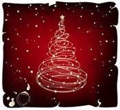 Árvore de Natal de Grunge Foto de Stock