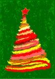 Árvore de Natal de Grunge Fotografia de Stock