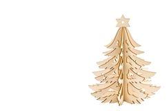 Árvore de Natal de madeira isolada Fotografia de Stock Royalty Free