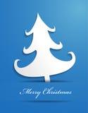 Árvore de Natal de papel ilustração do vetor