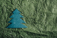 Árvore de Natal de papel imagem de stock