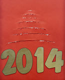 Árvore de Natal de papel rasgada Imagem de Stock Royalty Free