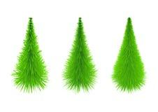 Árvore de Natal de três amostras Fotografia de Stock Royalty Free