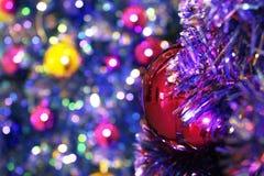 A árvore de Nataldecoração, celebração do ano novo fotos de stock