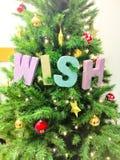 Árvore de Natal decorada Imagem de Stock Royalty Free