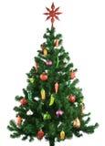 Árvore de Natal decorada Fotos de Stock