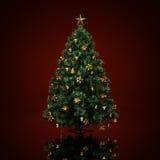 Árvore de Natal decorada Imagens de Stock Royalty Free