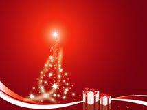 Árvore de Natal decorada Imagens de Stock