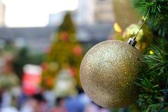 Árvore de Natal decorada bonita Fotografia de Stock Royalty Free
