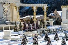 Árvore de Chrismas no parque temático Fotografia de Stock Royalty Free