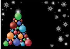 Árvore de Natal decorada, o fundo de ano novo ilustração stock