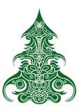 Árvore de Natal decorativa ilustração do vetor