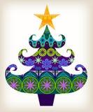 Árvore de Natal decorativa Imagens de Stock Royalty Free