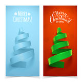 Árvore de Natal decorativa da fita Fotografia de Stock