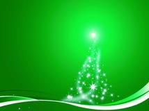 A árvore de Natal decorou o verde Fotografia de Stock