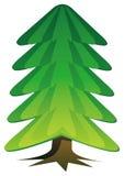 Árvore de Natal desencapada ilustração royalty free