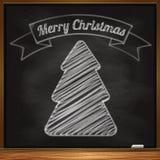 Árvore de Natal desenhado à mão Imagem de Stock