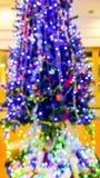 Árvore de Natal do borrão Fotografia de Stock