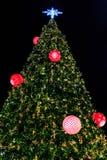 Árvore de Natal do brilho Imagens de Stock Royalty Free
