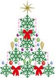 Árvore de Natal do candelabro ilustração royalty free