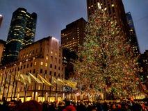 Árvore de Natal do centro de Rockefeller foto de stock