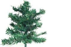 Árvore de Natal do close up simulada no fundo branco imagens de stock royalty free