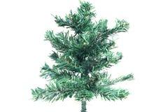 Árvore de Natal do close up simulada no fundo branco imagem de stock