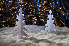 Árvore de Natal do corte do papel Fotos de Stock Royalty Free