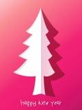 Árvore de Natal do corte do papel. + EPS8 Imagens de Stock Royalty Free