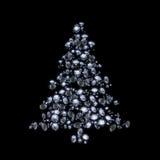Árvore de Natal do diamante Fotografia de Stock Royalty Free