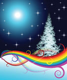 Árvore de Natal do Fractal Imagem de Stock Royalty Free
